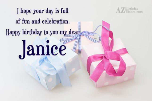 Happy Birthday Janice - AZBirthdayWishes.com