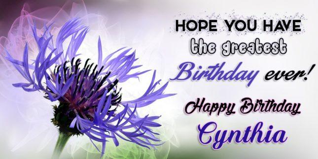 Happy Birthday Cynthia - AZBirthdayWishes.com
