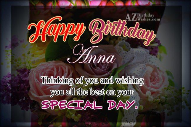 Happy Birthday Anna - AZBirthdayWishes.com