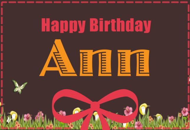 Happy Birthday Ann - AZBirthdayWishes.com