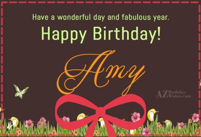 Happy Birthday Amy - AZBirthdayWishes.com