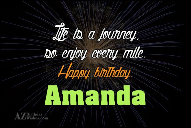 Happy Birthday Amanda - AZBirthdayWishes.com