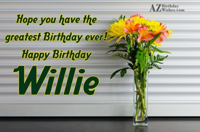 Happy Birthday Willie - AZBirthdayWishes.com