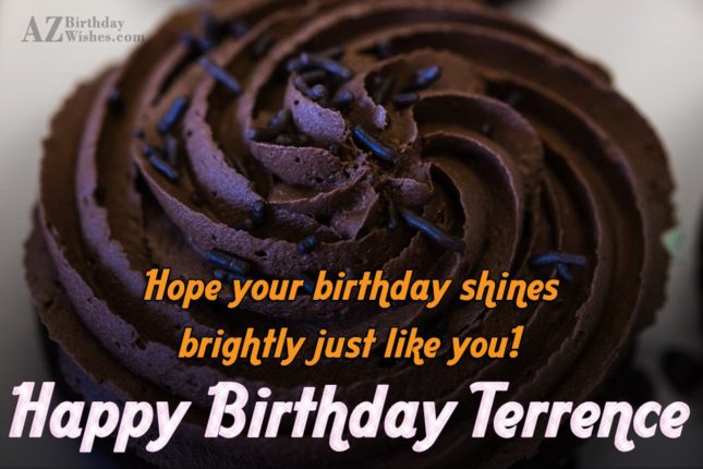 Happy Birthday Terrence - AZBirthdayWishes.com