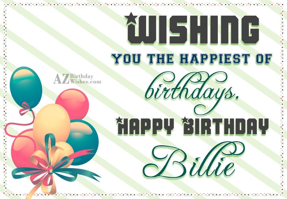 happy birthday billie