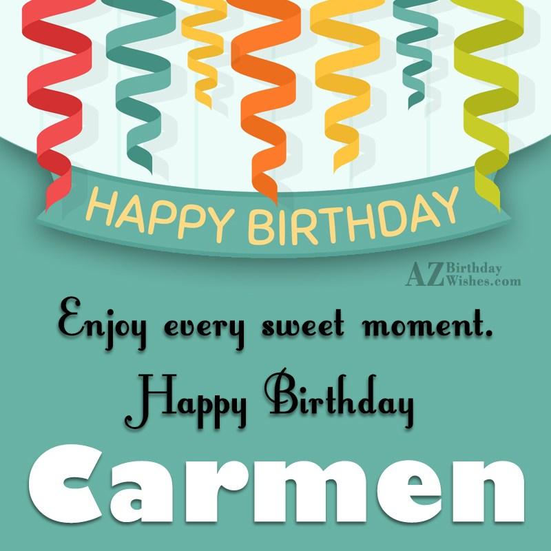 Happy birthday carmen - Happy birthday carmen images ...