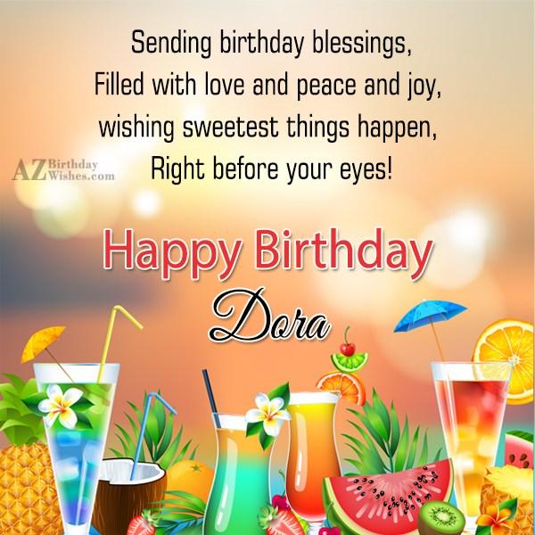 Happy Birthday Dora - AZBirthdayWishes.com