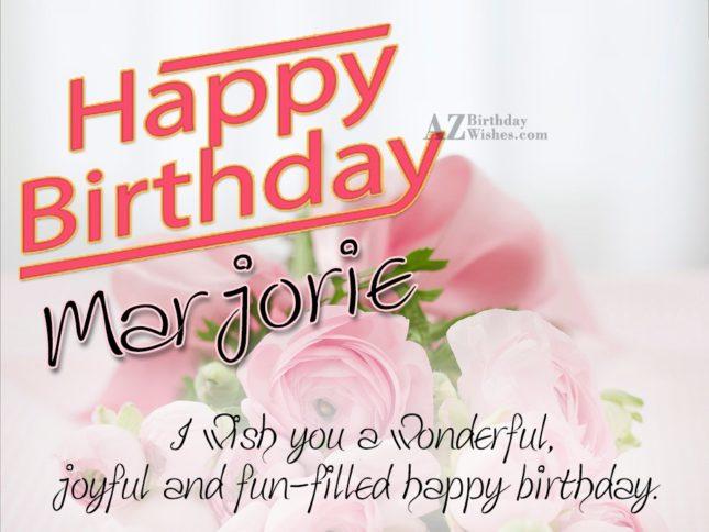 Happy Birthday Marjorie - AZBirthdayWishes.com