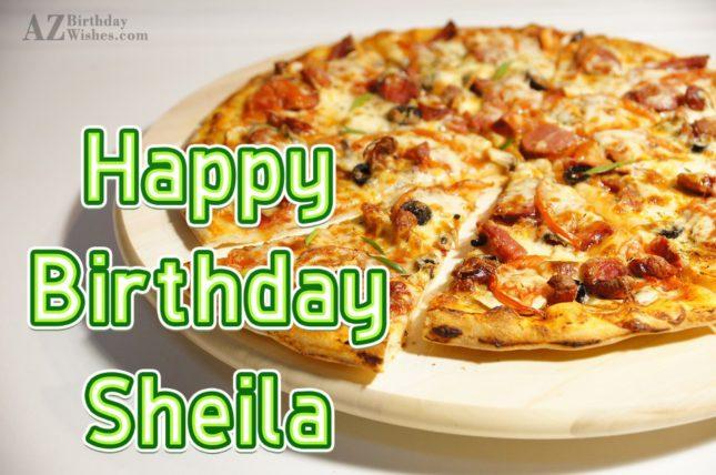 Happy Birthday Sheila - AZBirthdayWishes.com