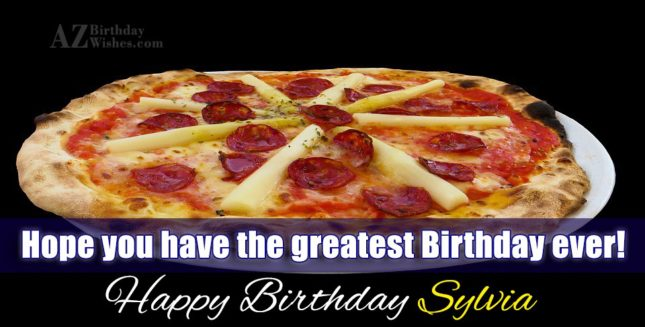 Happy Birthday Sylvia - AZBirthdayWishes.com