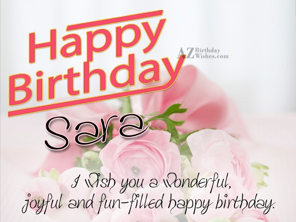 Happy Birthday Wishes Korean ~ Happy birthday sara