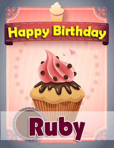 Happy Birthday Ruby - AZBirthdayWishes.com