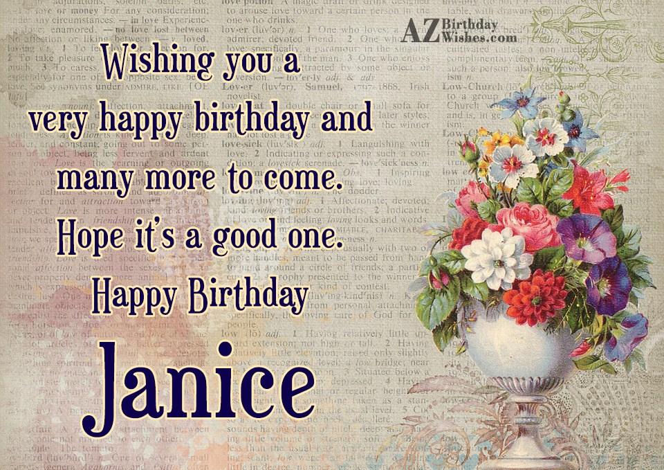 Happy Birthday Janice
