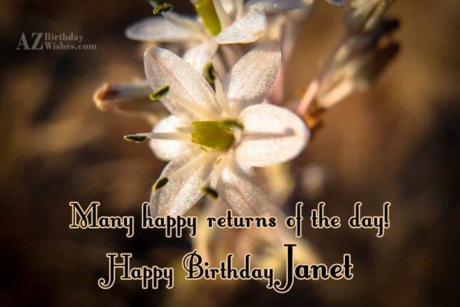 Happy Birthday Janet - AZBirthdayWishes.com