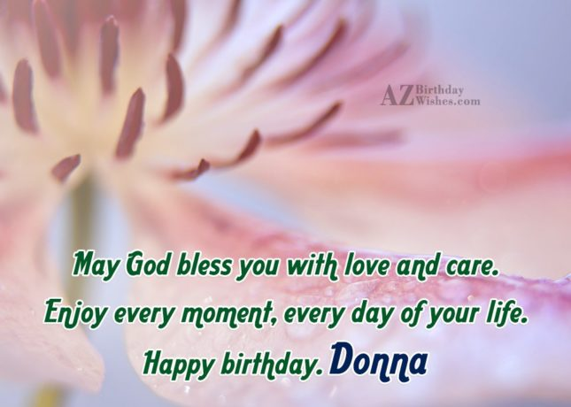 Happy Birthday Donna - AZBirthdayWishes.com