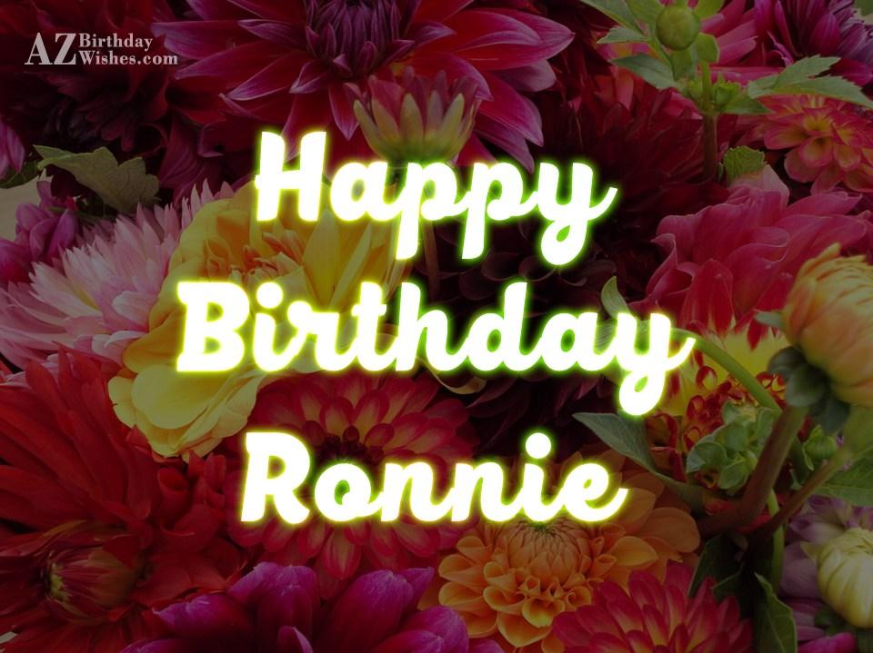 Birthday Cake For Ronnie : Happy Birthday Ronnie