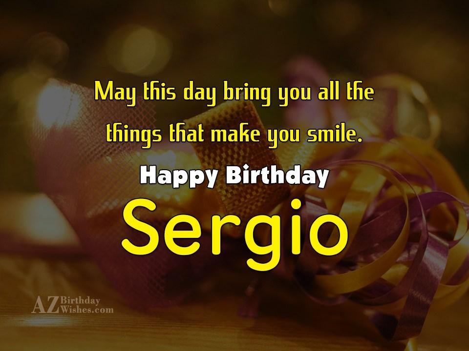 Happy Birthday Sergio