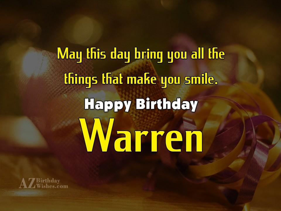 Happy Birthday Warren Cake