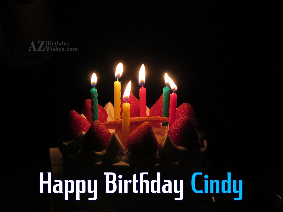 Happy Birthday Cindy
