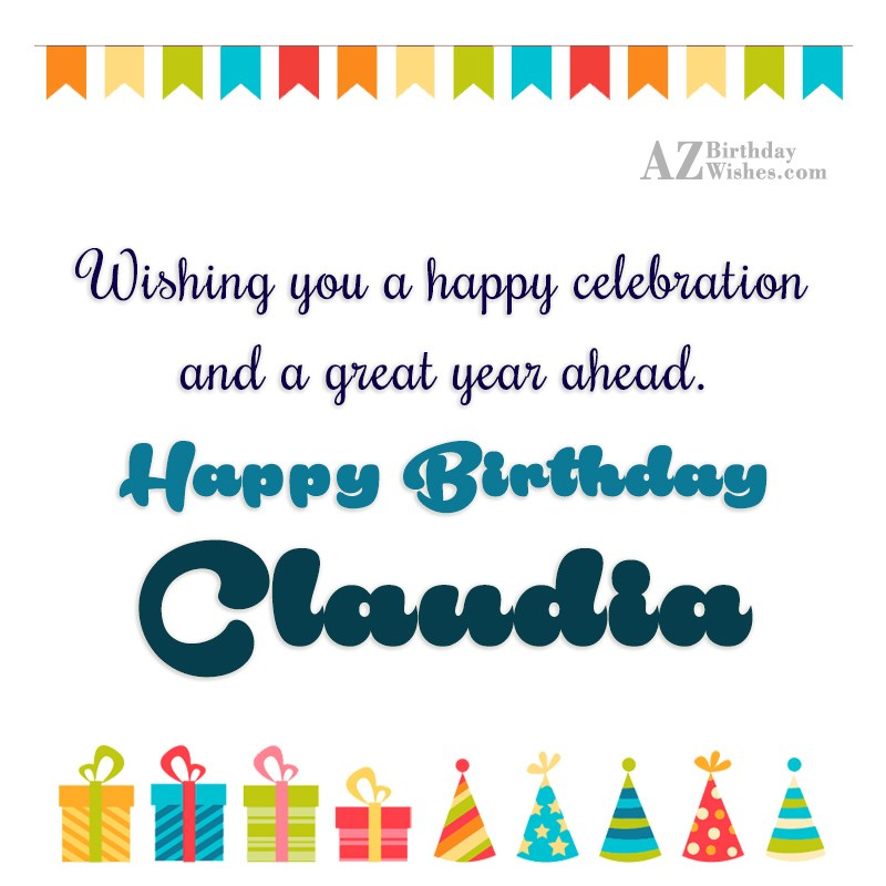Happy Birthday Claudia