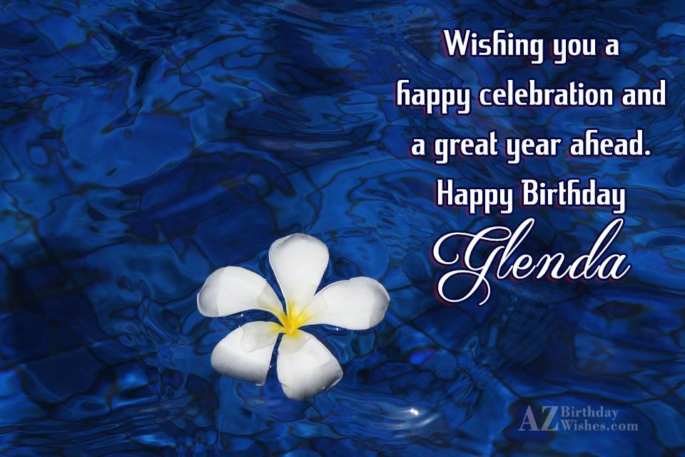 Happy Birthday Glenda