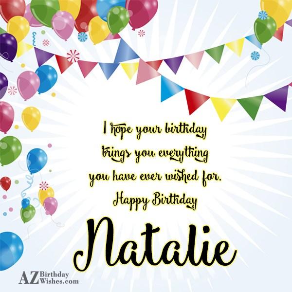 happy birthday natalie