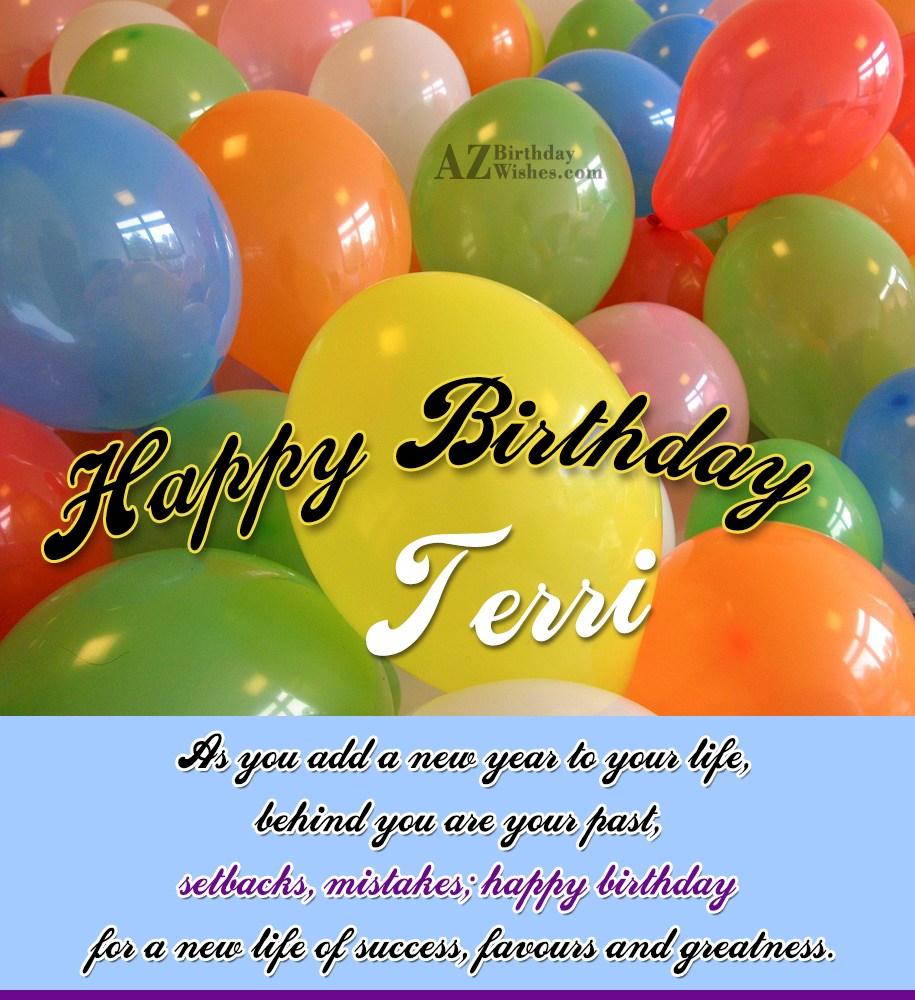 happy birthday terri
