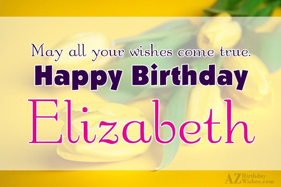 Happy Birthday Elisabeth