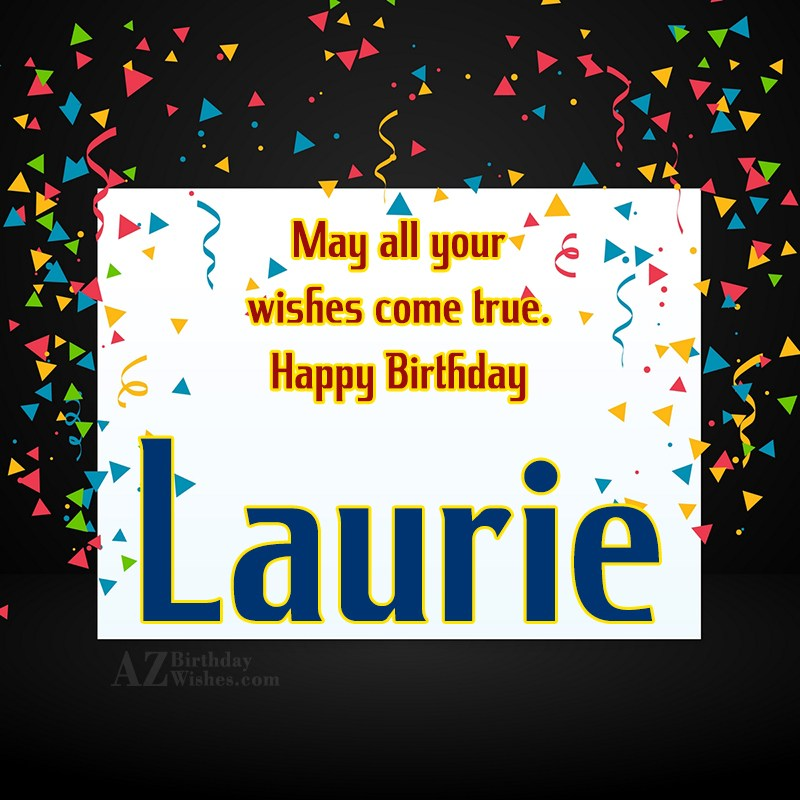 happy birthday laurie