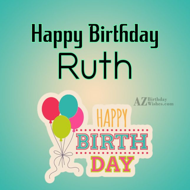 Brilliant Happy Birthday Ruth Birthday Cards Printable Opercafe Filternl