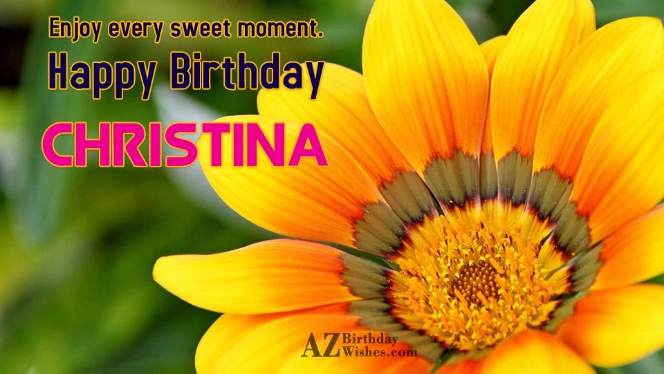 Happy Birthday Christina
