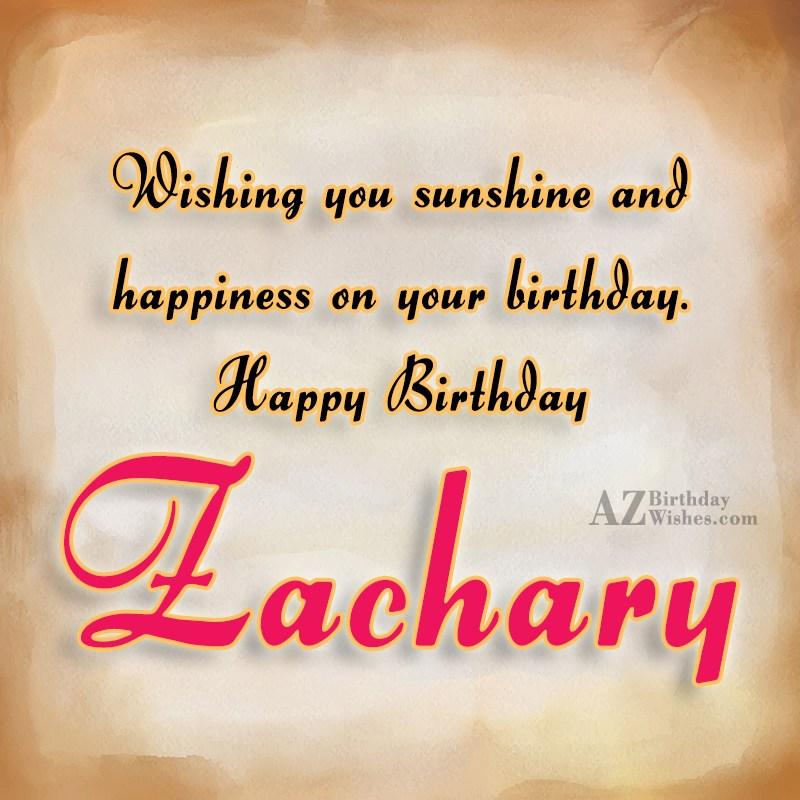 Happy Birthday Zachary