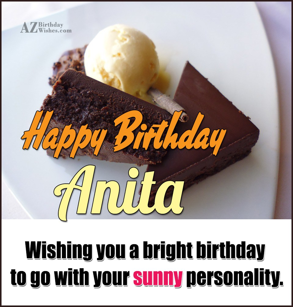 happy birthday anita images funny