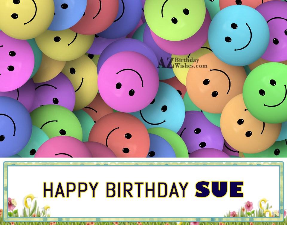 happy birthday sue