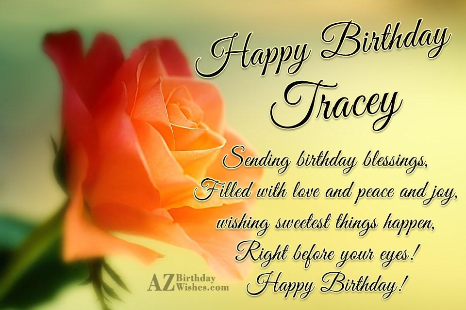 Happy Birthday Tracey