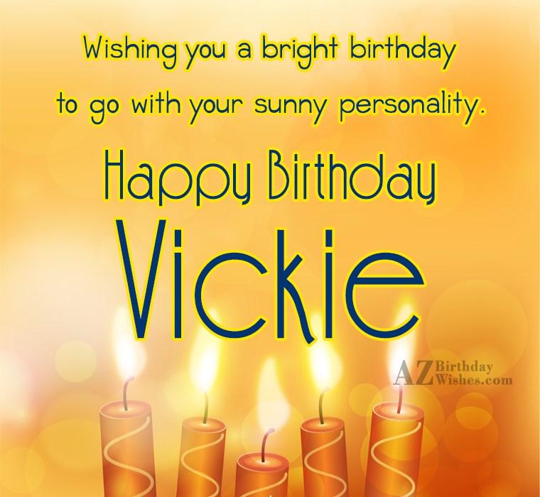 happy birthday vickie images