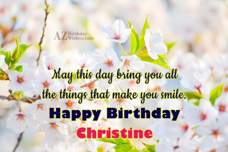 Image result for Happy Birthday Christine