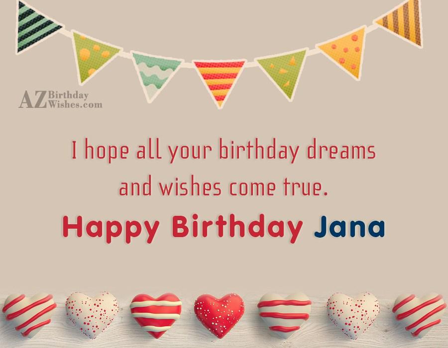 Happy Birthday Jana