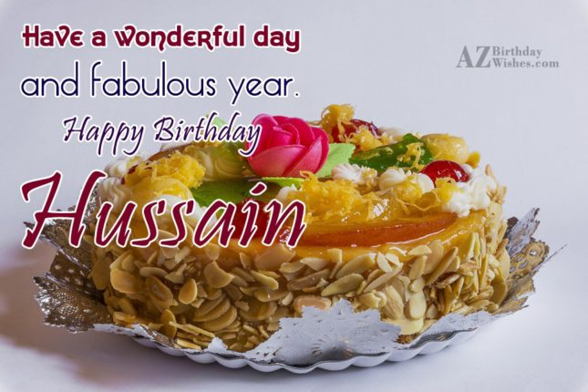 Happy Birthday Hussain - AZBirthdayWishes.com