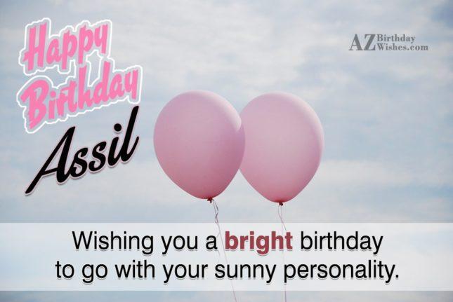 Happy Birthday Assil - AZBirthdayWishes.com