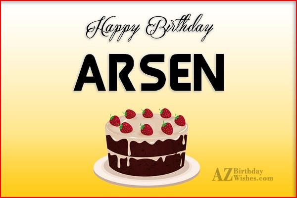 картинки на день рождения с именем арсен нежные ласковые