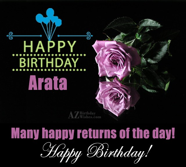 Happy Birthday Arata - AZBirthdayWishes.com