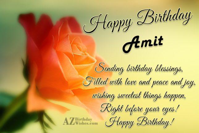 Happy Birthday Amit - AZBirthdayWishes.com