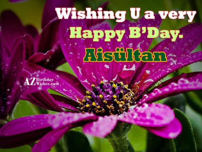 Happy Birthday Aisultan - AZBirthdayWishes.com