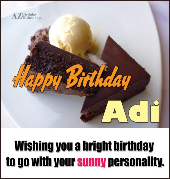 Happy Birthday Adi - AZBirthdayWishes.com