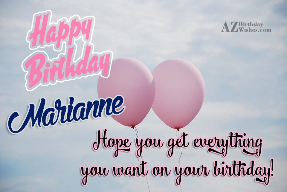 Risultati immagini per happy birthday marianne