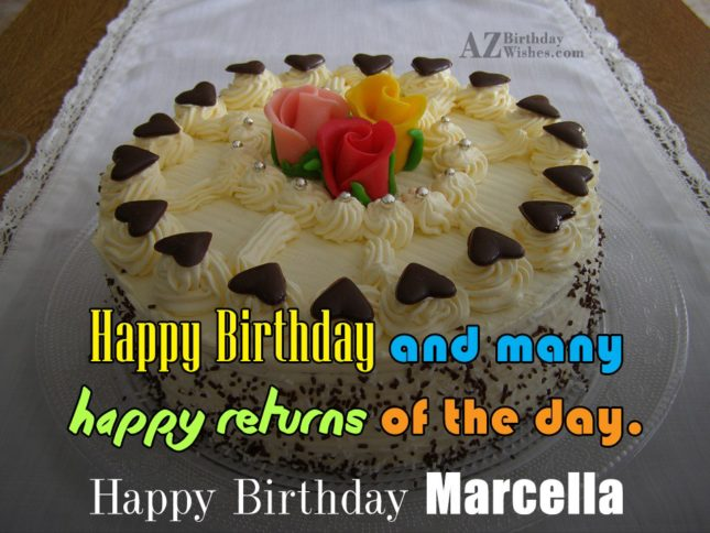 Happy Birthday Marcella - AZBirthdayWishes.com