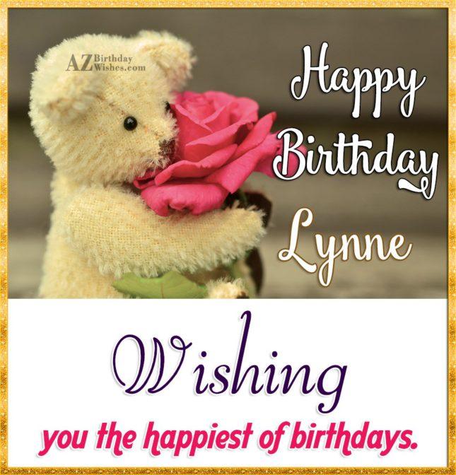Happy Birthday Lynne - AZBirthdayWishes.com