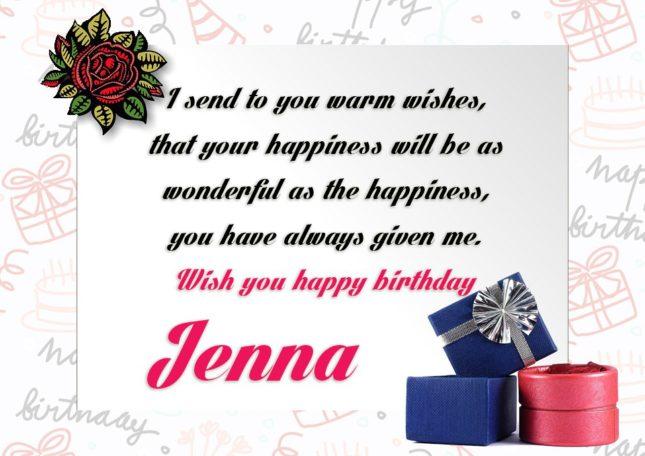 Happy Birthday Jenna - AZBirthdayWishes.com