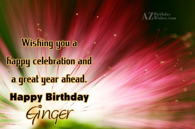 Happy Birthday Ginger - AZBirthdayWishes.com